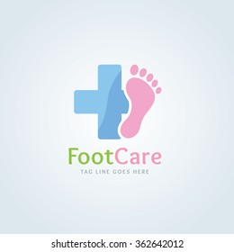 Foot Care Vector logo template