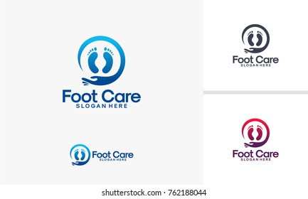 Foot Clinic logo designs, Foot Care logo designs vector