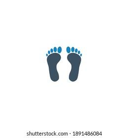 Foot footprint icon (vector illustration)