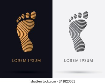 Foot, Footprint logo, symbol, icon, graphic, vector.