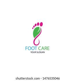 Foot Health Logo Template Design Vector, Emblem, Concept Design, Creative Symbol, Icon