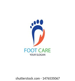 Foot Health Logo Template Design Vector, Emblem, Concept Design, Creative Symbol, Icon