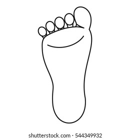 Foot icon. Outline illustration of foot vector icon for web