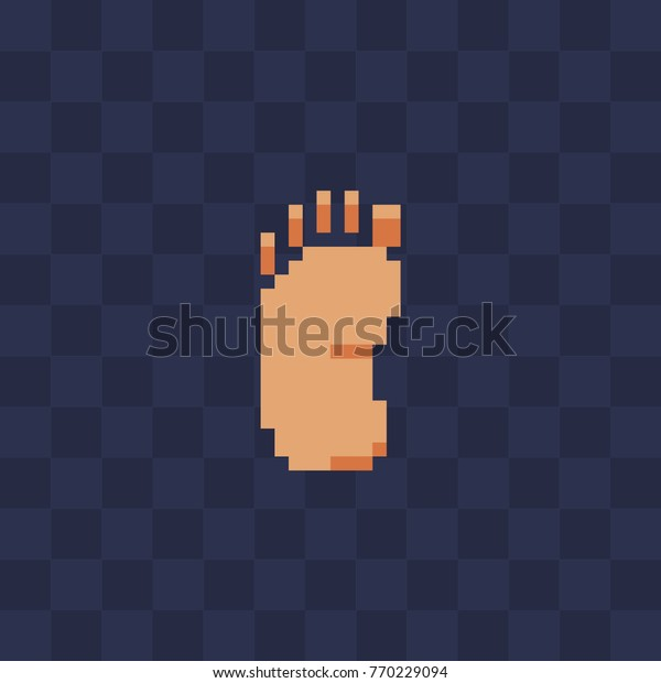Foot Icon Pixel Art Icon 8bit Stock Vector Royalty Free