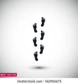 foot icon, vector best flat icon EPS