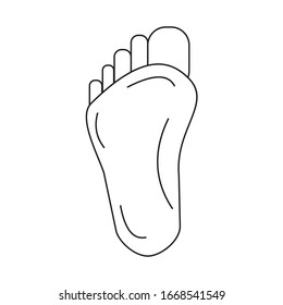 foot icon vector ilustration sign design