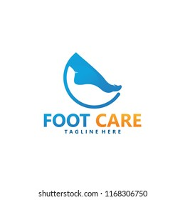 foot logo design template