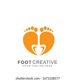 Foot logo with modern design. abstract icon foot vector illustration. Eps10