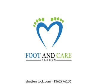 foot Logo Template Design Illustration