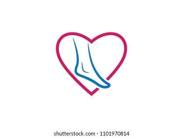 foot Logo Template vector icon illustration design