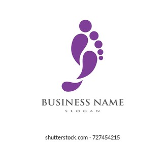 foot Logo Template vector icon