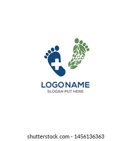 FOOT MEDICAL CARE LOGO DESIGN TEMPLATE