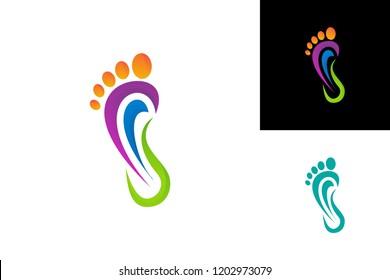 Foot Medical Logo Template Design Vector, Emblem, Design Concept, Creative Symbol, Icon