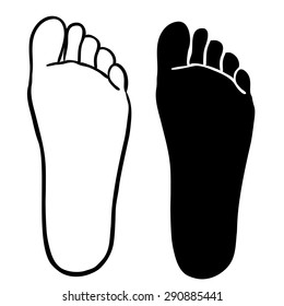 FOOT outline and silhouette illustration vector