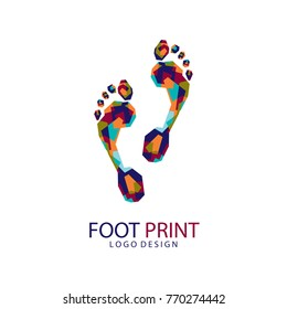 Foot Print Logo. Color foot print. Creative logo