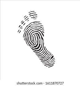 foot print logo design vector icon illustration template