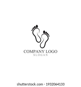 Foot print logo and symbol vector