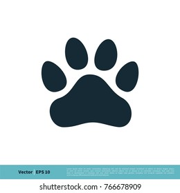 dog paw print logo template stock vector royalty free 620917385