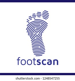 foot scan technology logo icon vector