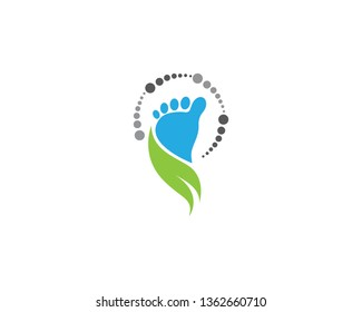 Foot therapist logo vector icon