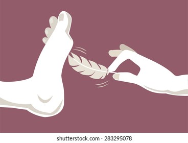 Foot tickle