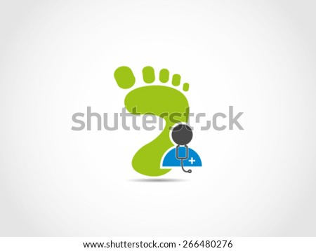 cdbeaf894f Foot Track Record Medical Check Stock Vector (Royalty Free ...