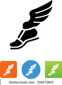 Foot with wings / messenger symbol