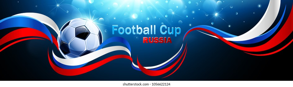 Football 2018 World Championship Background Soccer Russia. Vector illustration