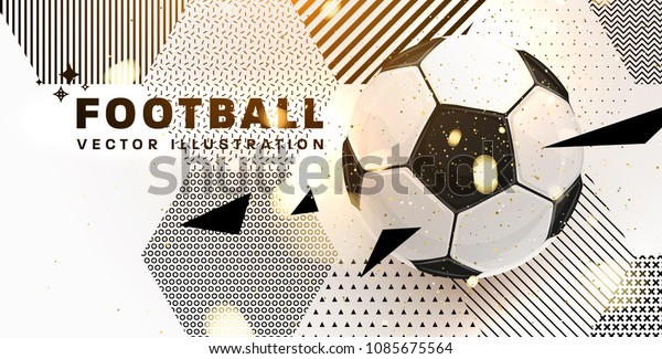 Personalized Football abstract design template for soccer wallpaper murals