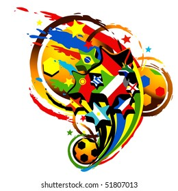 football abstract vector illustration