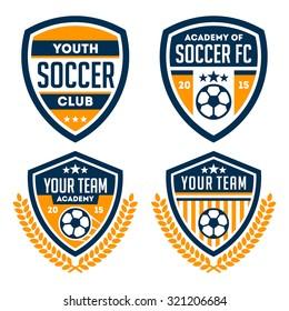 Football badge / logo set