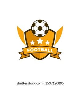 Football badge logo template design, soccer team, vector illustration