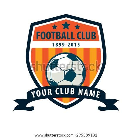 Football Badge Logo Template Designsoccer Teamvector Illustration