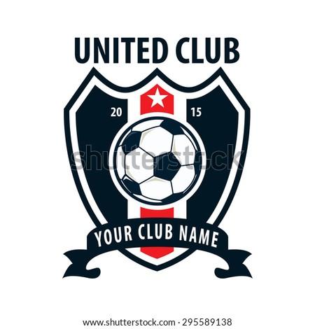 football badge logo template designsoccer teamvector stock vector