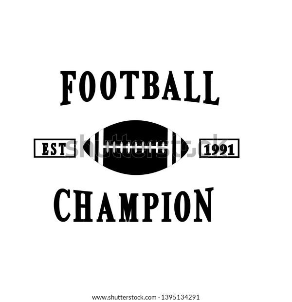 Football Badges Logo Champion Turnamen Stock Vector (Royalty