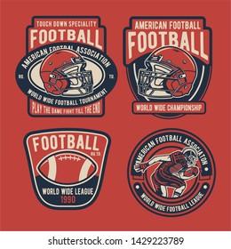 Football Badges Logo Template Design