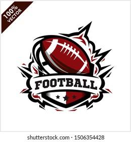Football ball badge logo vector