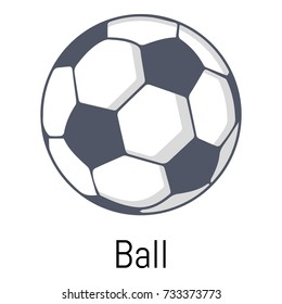 Football ball icon. Cartoon illustration of football ball vector icon for web
