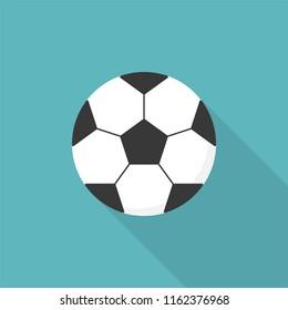 Football ball icon, flat design vector