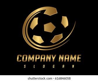 Football ball logo
