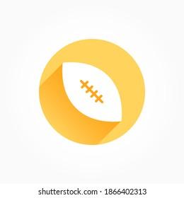 Fußballball-Langschattenfarbsymbol