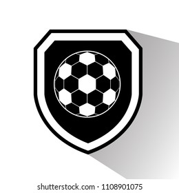 football ball and shield. logo concept