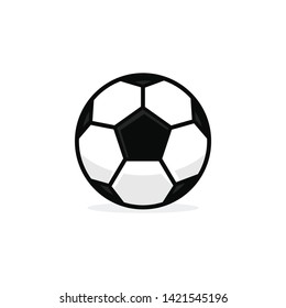 Football ball soccer ball vector template illustration
