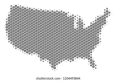 Hex USA Map Vector Isolated On Stock Vector (Royalty Free ...