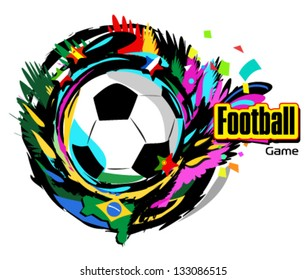 Football ball vector illustration