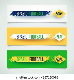 Football banners design. Vector eps 10