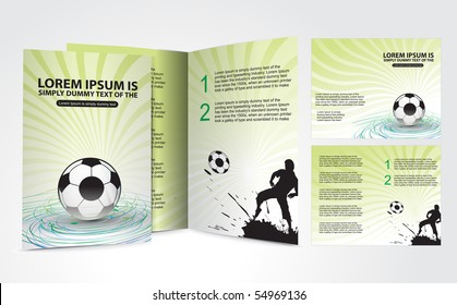 Football brochure design for champion cup and place for your text, vector illustration.