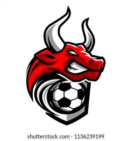 Football Bull Team Logo