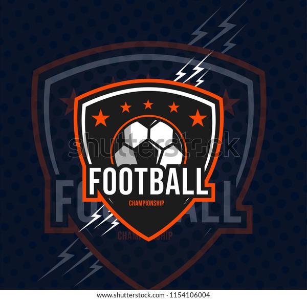 Football Champion Logo Sport Emblem Vector Stock Vector