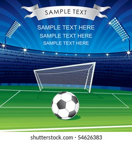 Football Champions League theme- vector poster for your text or design MORE SIMILAR SOCCER BACKGROUNDS